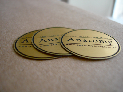 Brushed gold labels
