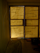 Papered up windows